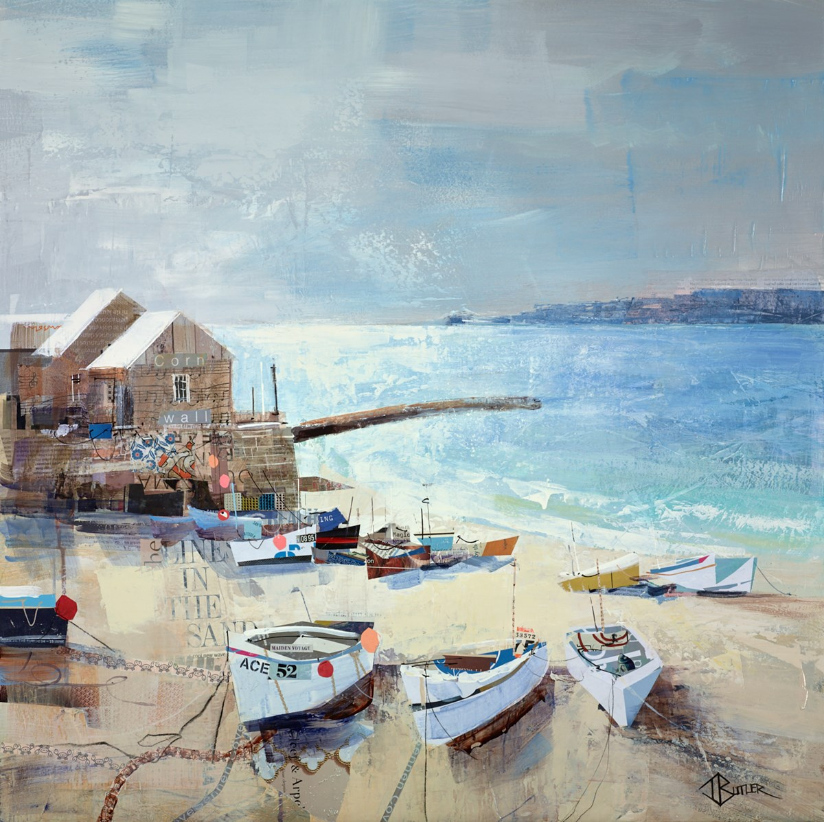 Seas the Day, Sennen Cove by tom butler -  sized 30x30 inches. Available from Whitewall Galleries